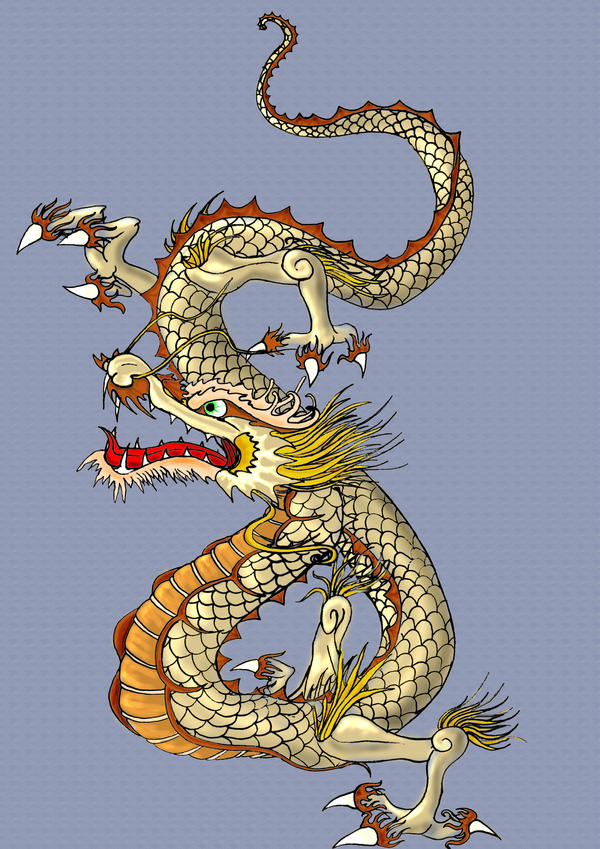 Japanese dragon by chyga on deviantart for Japanese dragon painting
