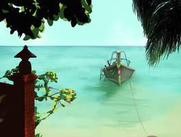 Beach Scene by Balimbang
