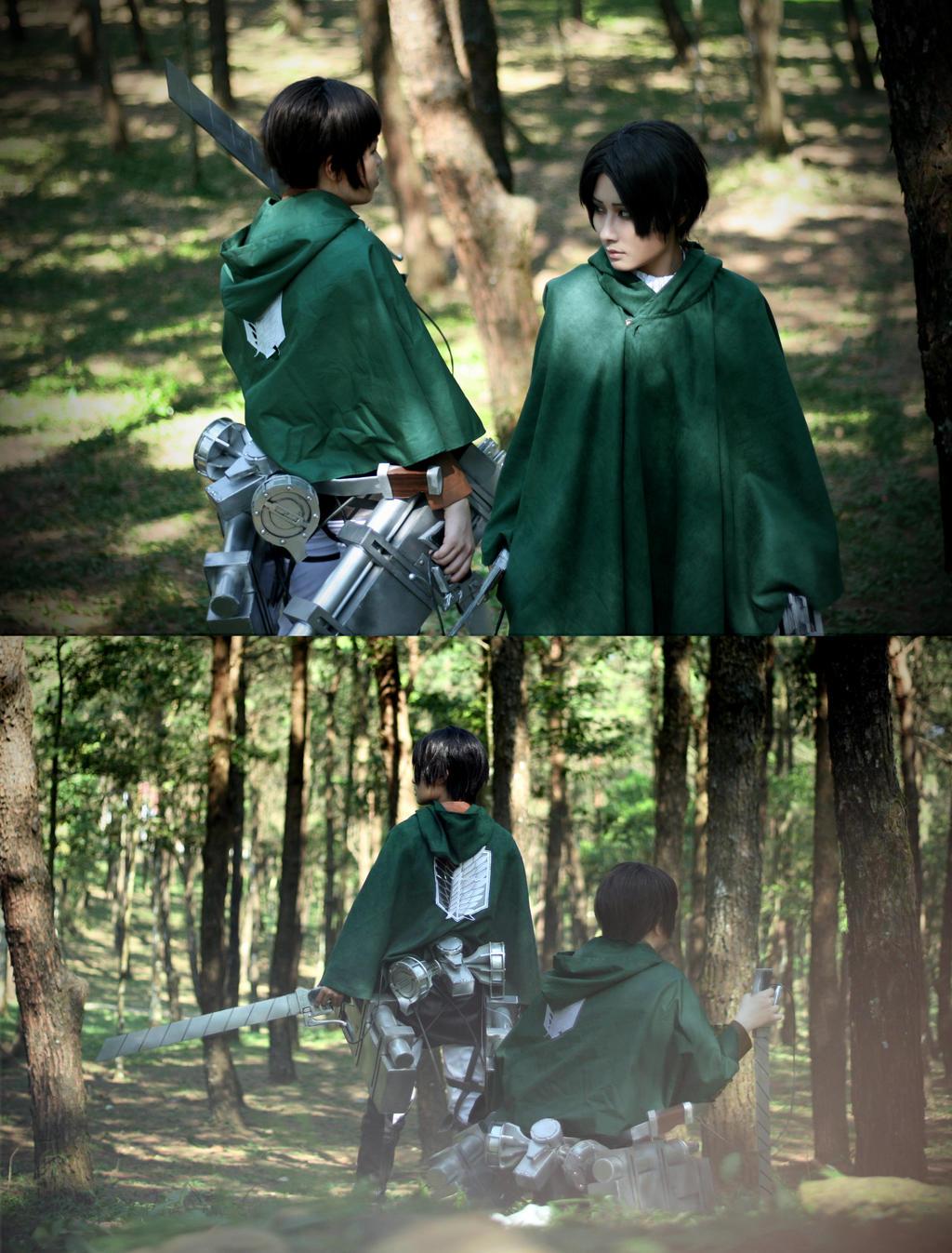 [Shingeki no Kyojin - Levi/Eren] Back site by Seiran-Kisaragi
