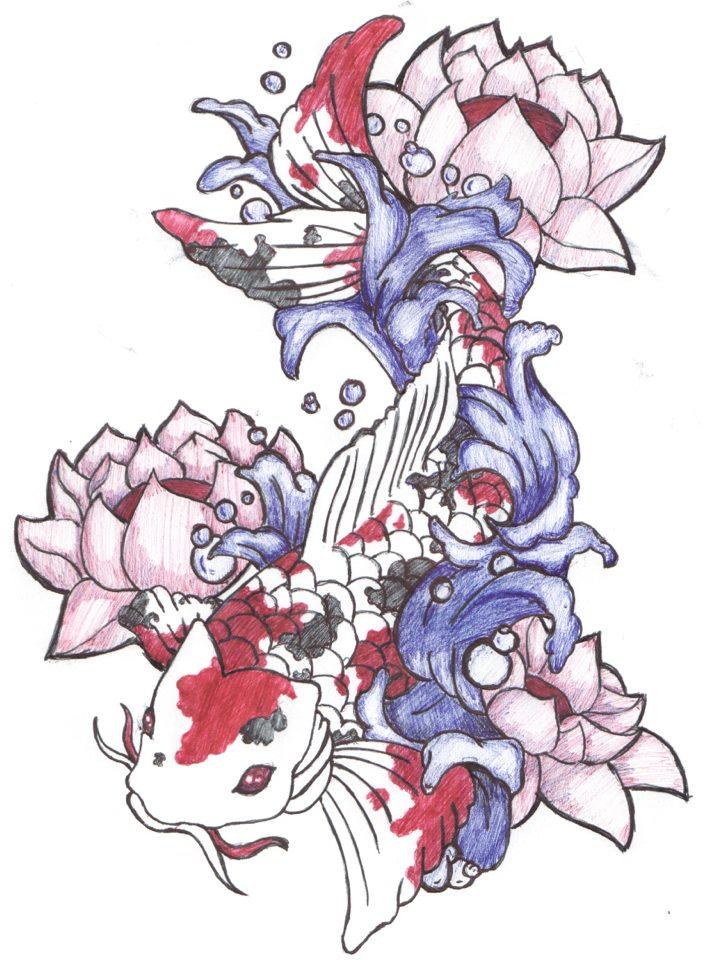 Pin pez koi plantilla de tatuajes plantillas significado for Significado de pez koi