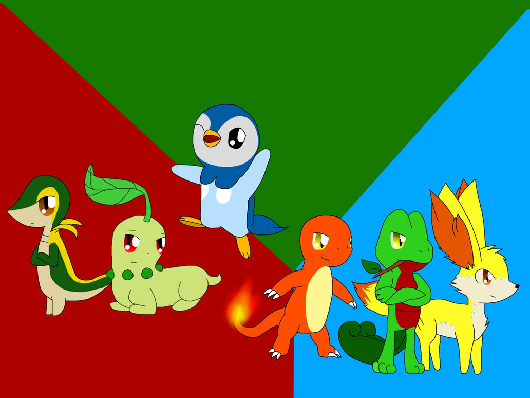 Starters of my choice by DragonHearteDzoruA