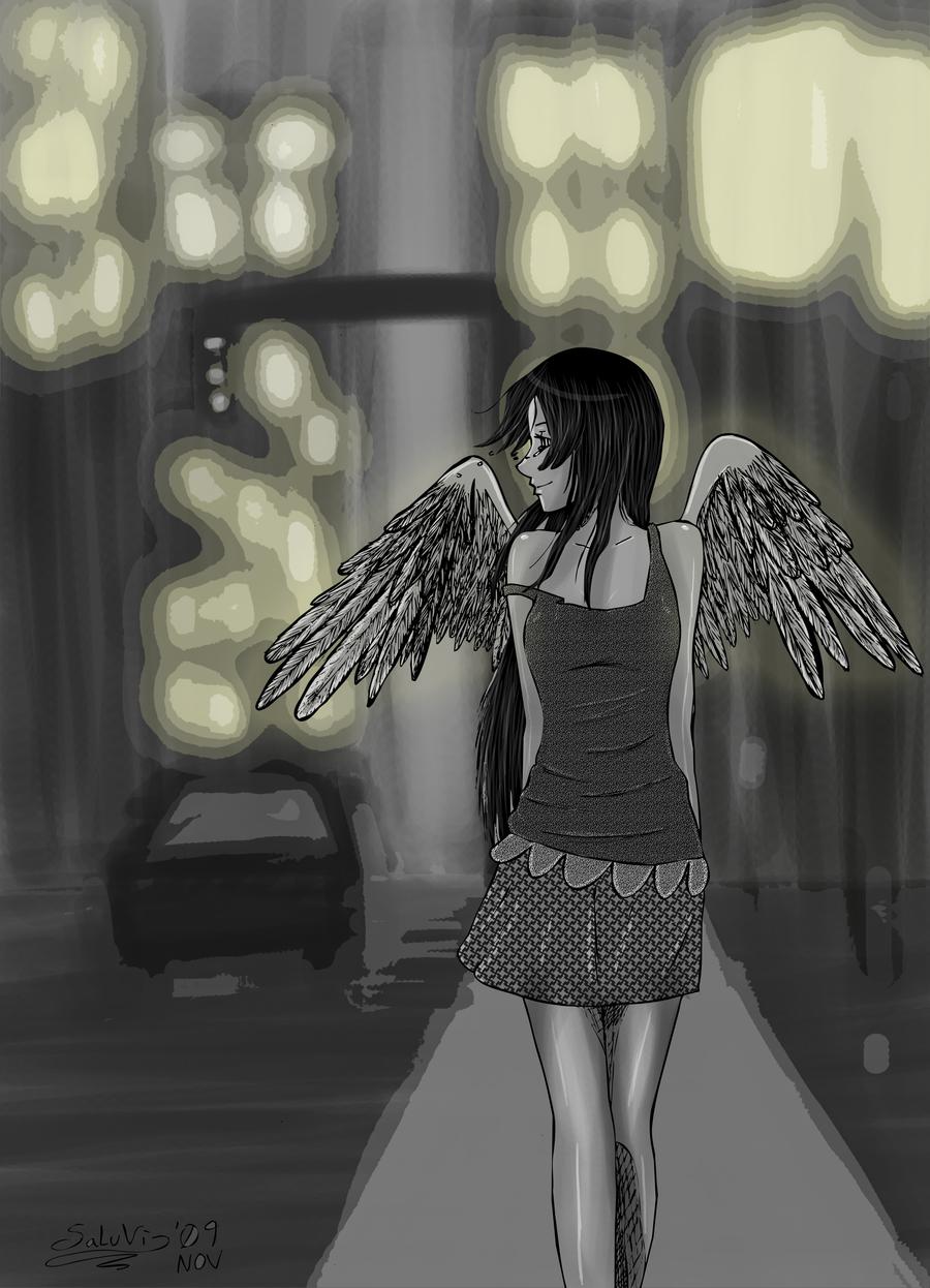 Under the City lights by SaraV-Art