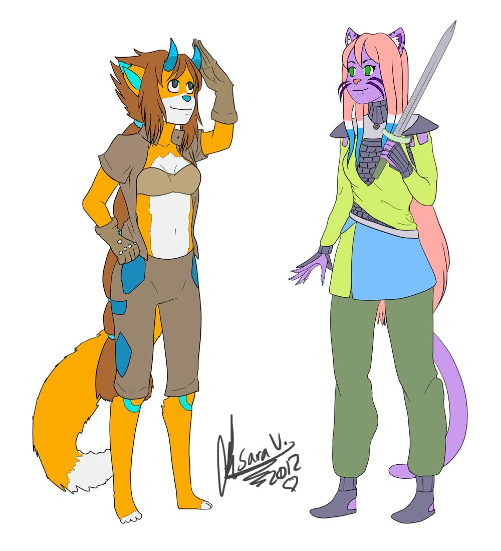 Silva and Neko by SaraV-Art