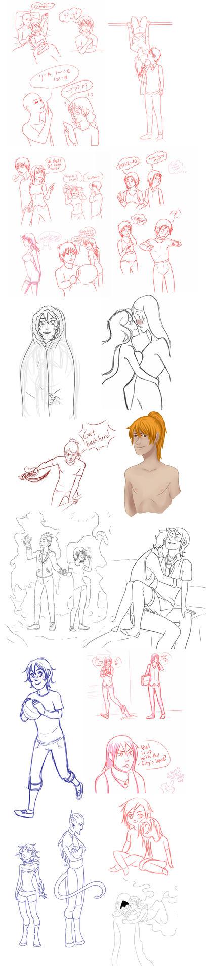 Tumblr doodledump by SaraV-Art