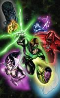 Green Lantern color by stikkmann