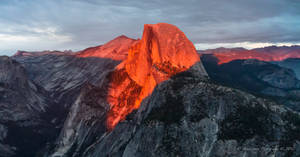 Half Dome on Fire by Mac-Wiz