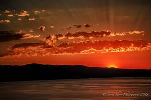 Sunset on Flathead Lake by Mac-Wiz