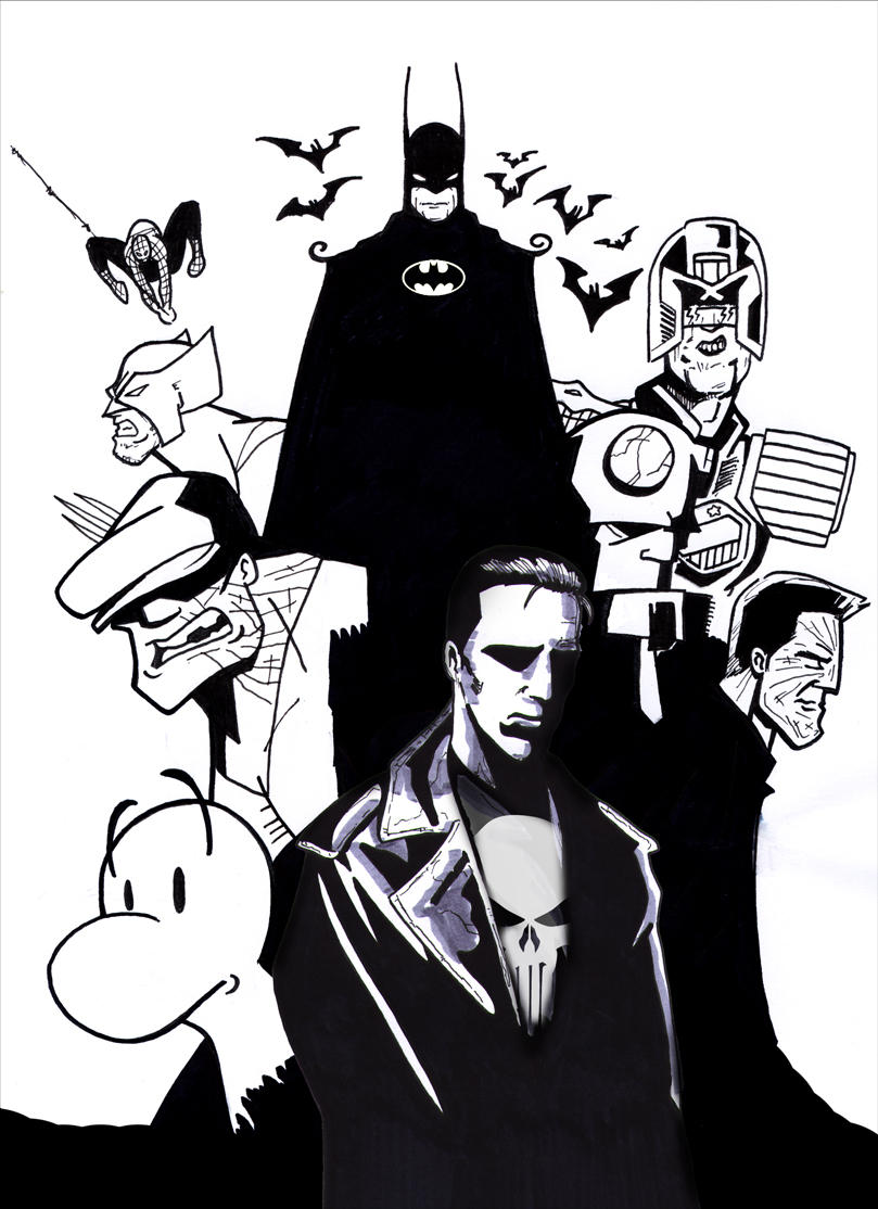 Comic Book Heroes by CitizenWolfie
