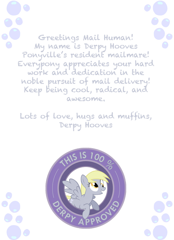 Derpy Day Letter for a Mail Human by Shadow-Sister