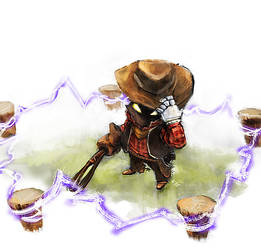 cowboy Veigar by racoonwolf