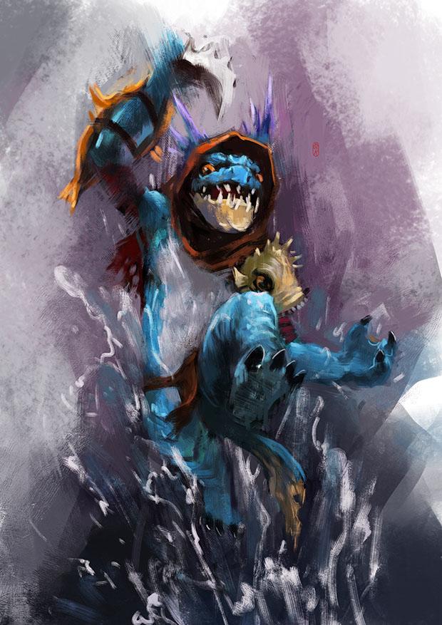slark by racoonwolf on deviantart