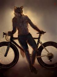 Bikewolf by racoonwolf
