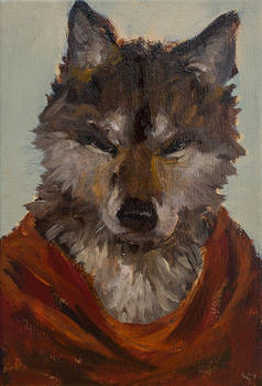 wolf with red cloak