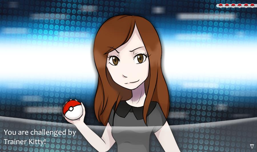 Pokemon trainer Kitty by KyiwtieArt