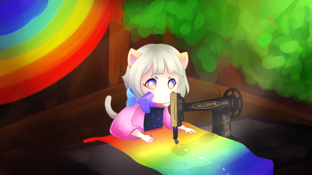 Sewing all day by KyiwtieArt