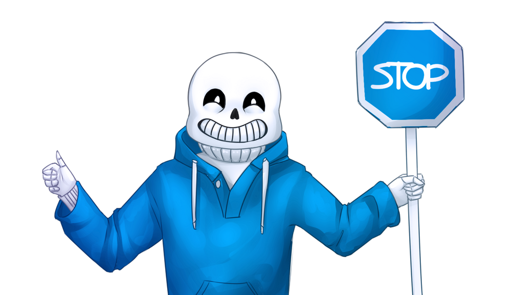 It's like a stop sign, but blue by KyiwtieArt