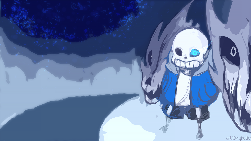 Sans Background by KyiwtieArt
