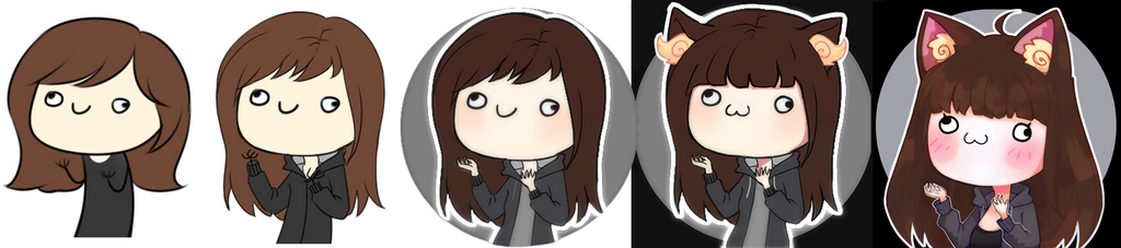 The evolution of my Icons: 2015 - 2017 by KyiwtieArt