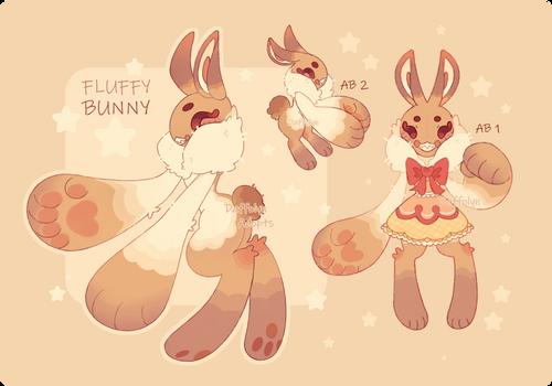 (CLOSED) Scarfox - Fluffy Bunny - Auction Adopt