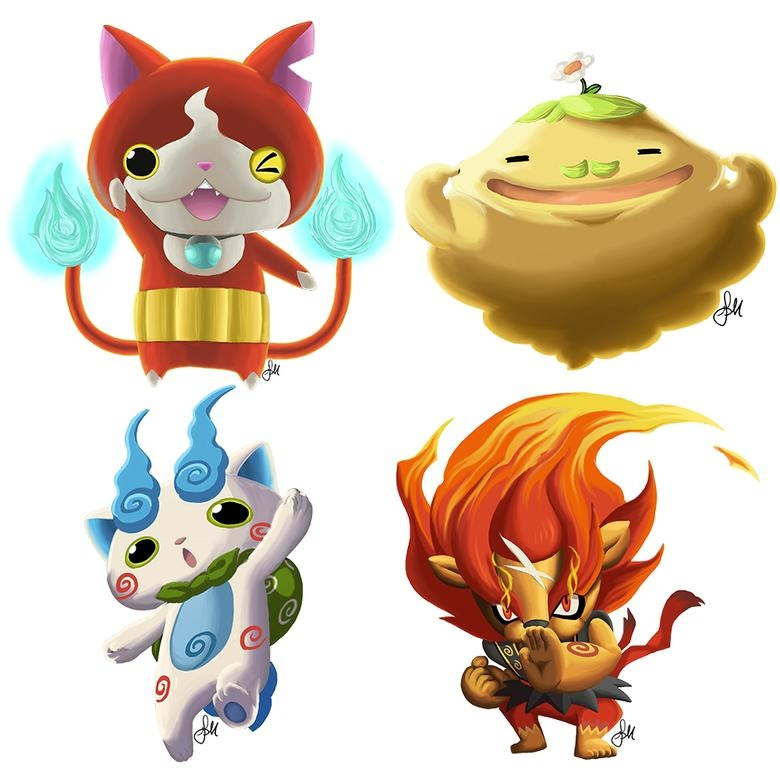 Yo Kai Watch Characters By Gabrielamichelle On Deviantart