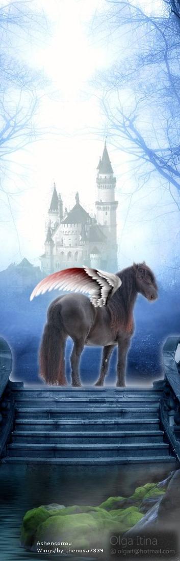 Horses fantasy heaven castle