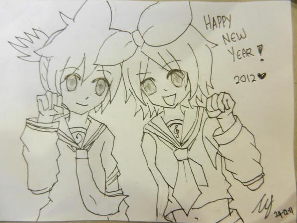TANJA83 i njene dve bebice :)) - Page 18 Happy_new_year___kagamine_twins_by_makix1994-d4ksv77
