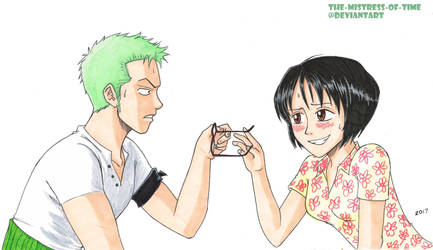 Zoro and Tashigi first encounter