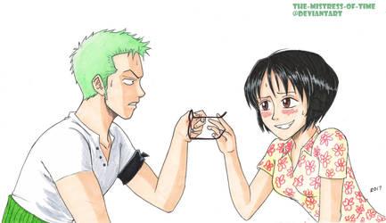Zoro and Tashigi first encounter