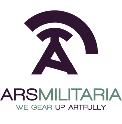 Ars Militaria group header/logo|Purple/turquoise