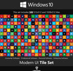 Windows 10 Modern UI Tile Set Updated