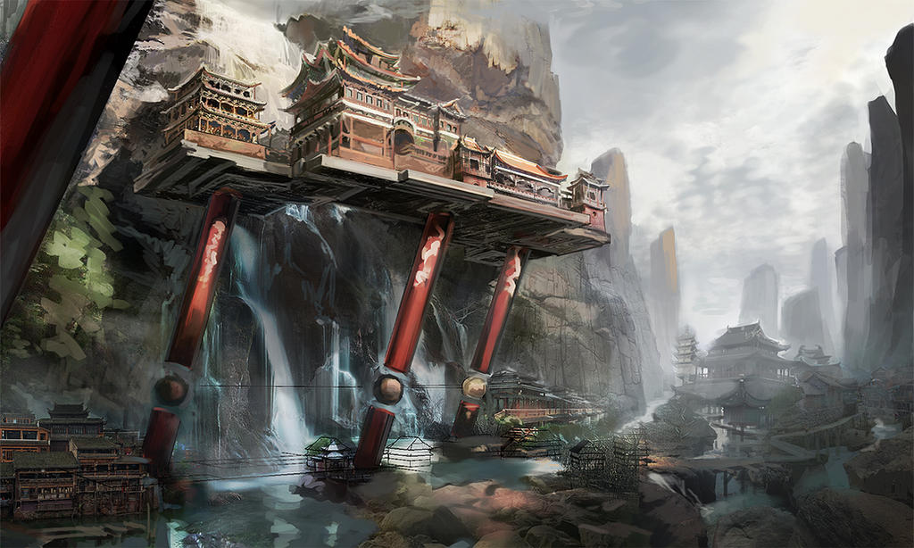 Temple Ravine - process 1 by AnDary