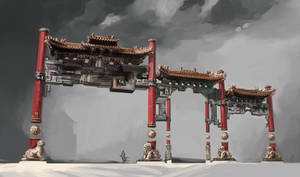 Floating Temple props - the Gates