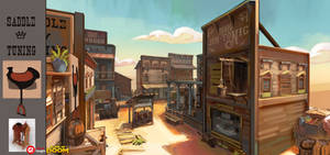 Wild West map concept -2