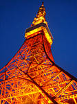 Up Tokyo Tower - Color by chinotenshi