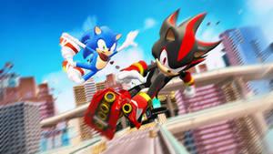 MMD Sonic Boom Wallpaper by 495557939