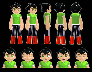 MMD 2018 Astro Boy Reboot 3D model preview by 495557939