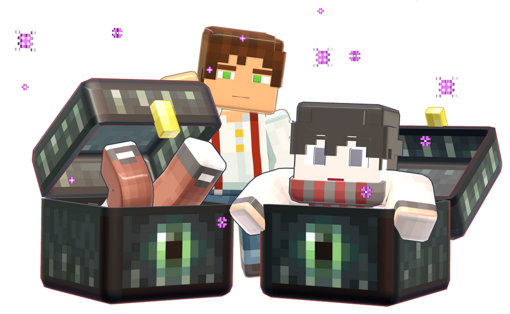 MMD Minecraft Smooth Steve preview ender chest by 495557939 on DeviantArt