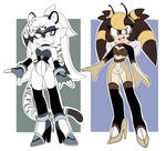 tiger and bee adopts ( closed ) + extras !!!