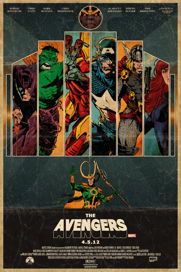 The Avengers Movie Poster by sergefoglio