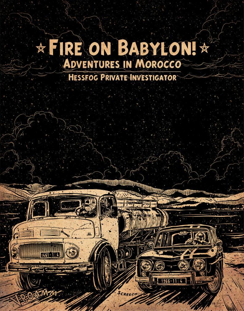 Fire on Babylon by sergefoglio