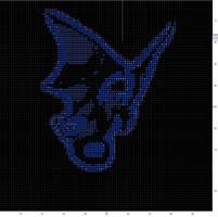 cross stitch - dragon silhuett