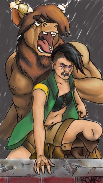 Ravalynn and Sundu by werewolf-of-kansas