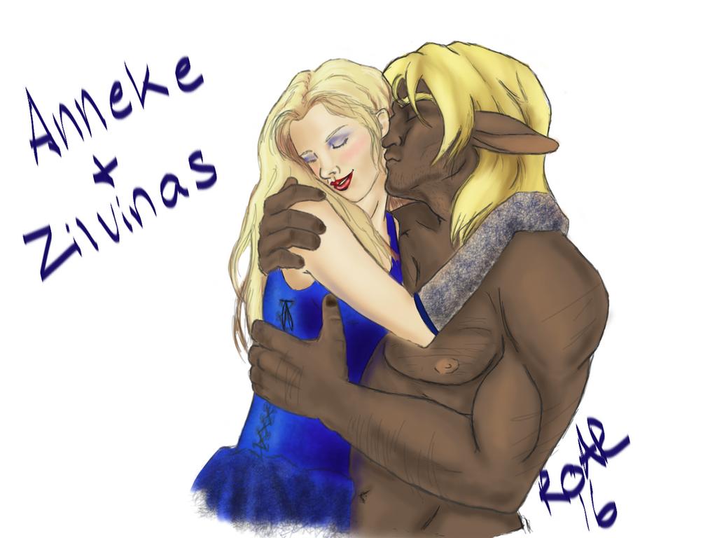 Anneke and Zilvinas by werewolf-of-kansas