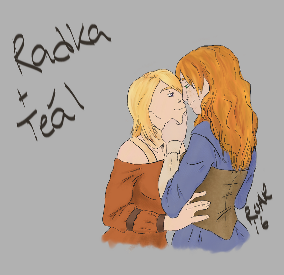 Radka and Teal by werewolf-of-kansas