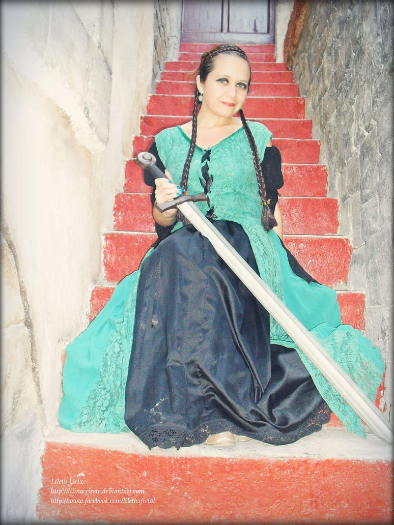 Lady with sword by Lilinaceleste