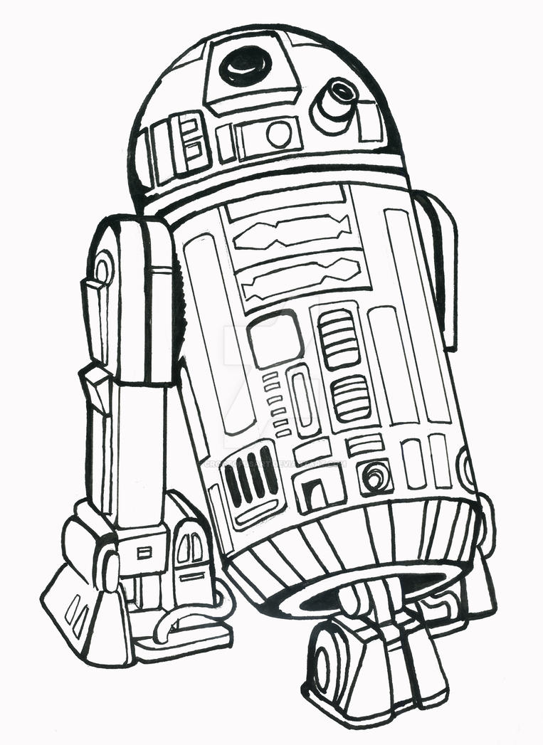 r2d2 coloring page - r2d2 by croctopusart on deviantart