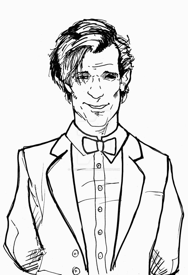 Line Drawing Of A Doctor : Th doctor by croctopusart on deviantart