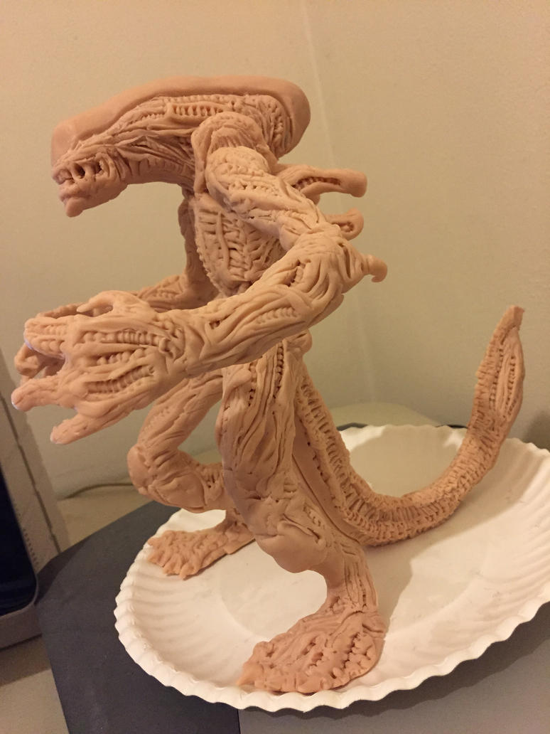 Alien sculpt in progress 2 by CroctopusArt