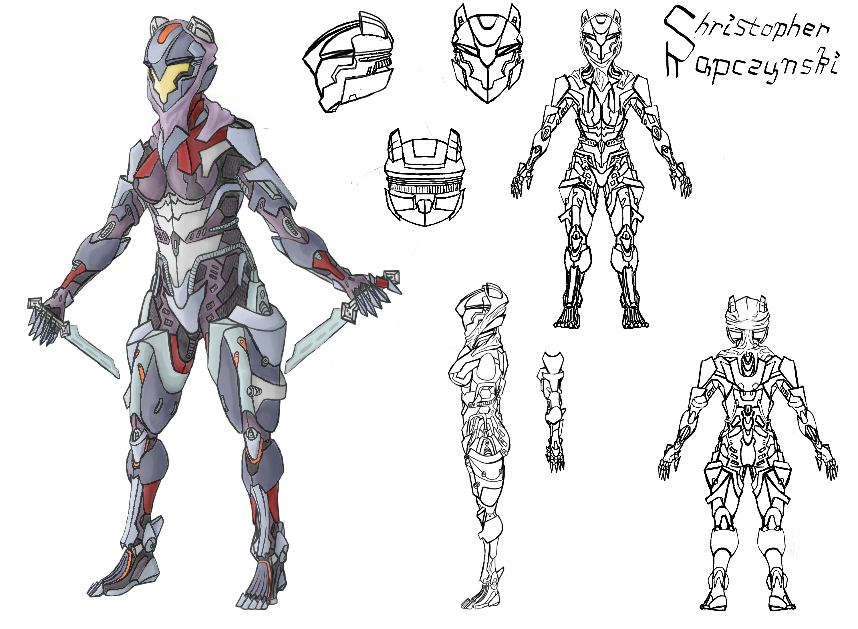 Character Design And Concept Art : Feora armor design character concept art by luigipunch