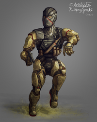 Desert Special Ops (character design practice) by LuigiPunch
